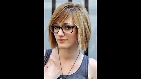 short hairstyles  oval faces  glasses youtube