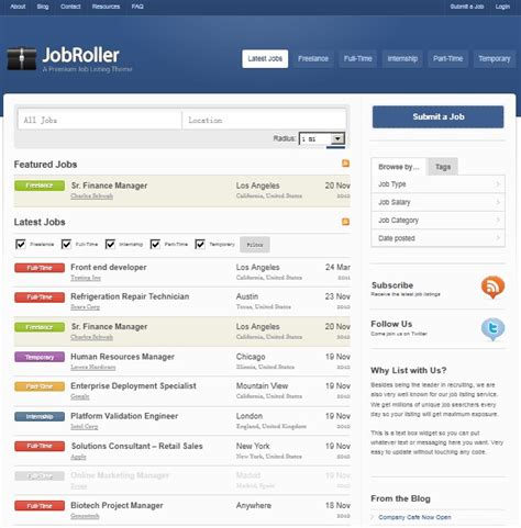 theme wordpress listing job listing wordpress theme for listing directory