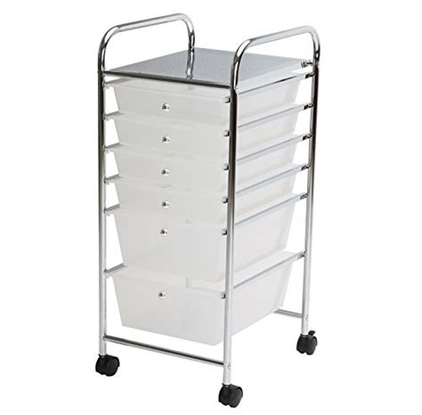 Rolling Storage Cart With Drawers by Finnhomy 6drawer Rolling Cart Organizer Storage Cart With