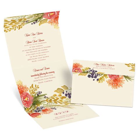 Wedding Invitations Fall by Fall Florals Seal And Send Invitation S Bridal Bargains