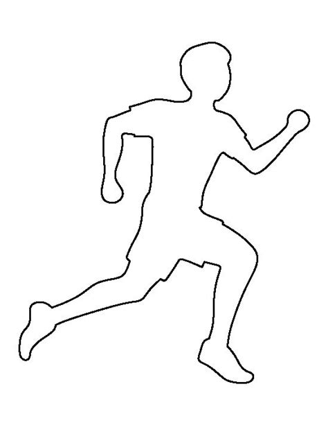 running template running pattern use the printable outline for crafts