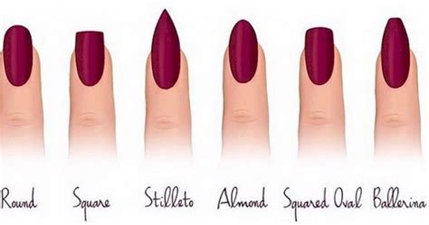 Your Nail Type by 12 Different Nail Shapes To Try For Our Fingertips
