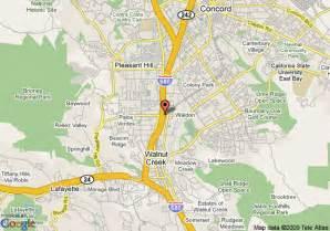 walnut california map map of embassy suites hotel pleasant hill walnut creek