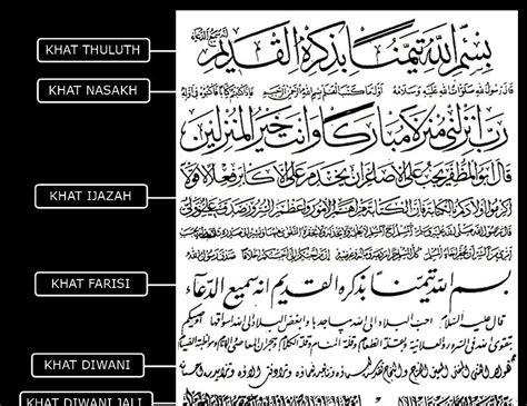jenis layout koran sejarah ringkas seni khat seni khat warisan islam