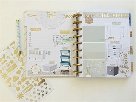 photo planner home design create 365 the happy planner home remodel organization