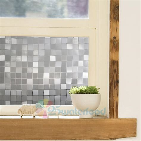 privacy sticker for bathroom window 45 100cm waterproof frosted privacy bedroom bathroom