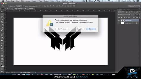 tutorial photoshop full how to make a 3d logo in photoshop cinema 4d full tutorial
