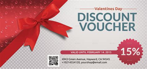 Valentines Discount Voucher Template by utpal443