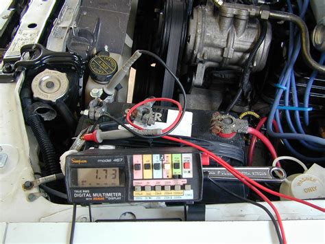 alternator diode leakage testing battery and charging system