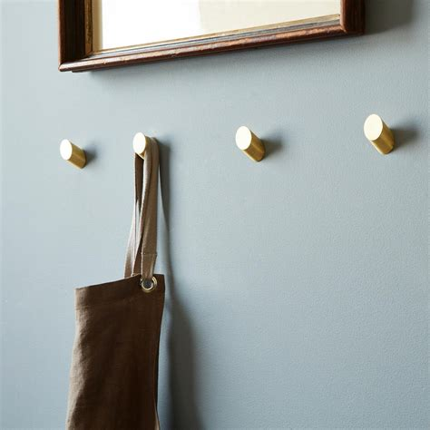 brass round wall hooks on food52