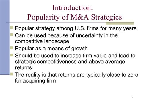 Merger And Acquisition Notes For Mba by Merger And Acquisition Strategy