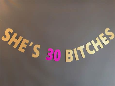 she s 30 bitches banner 30th birthday banner