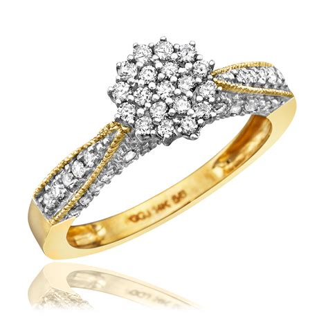 Wedding Rings Gold 14k by 1 Carat Trio Wedding Ring Set 14k Yellow Gold My