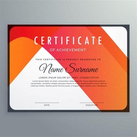 design certificate of achievement modern orange certificate of achievement template design