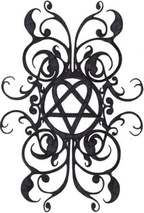him tattoo designs cool heartagram design sketch tattoomagz