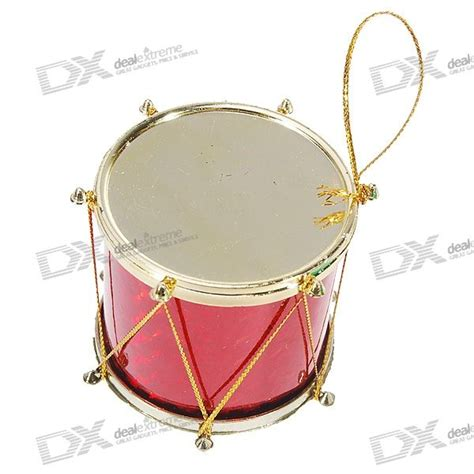 charming drums christmas tree ornament 6 drum set free