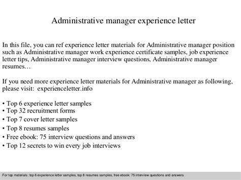 Mofa Full Form by Administrative Manager Experience Letter