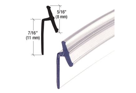 Shower Door T Seal Crl Clear Pvc Vinyl T Seal Shower Hardware