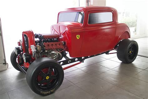 ferrari engine for sale 1930s ford hotrod with twin turbo ferrari engine