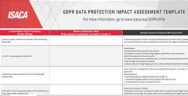 Gdpr Data Protection Impact Assessments Gdpr Dpia Template