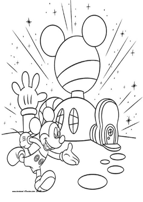 Mickey Mouse House Coloring Pages | coloring mickey mouse s house disney pictures image
