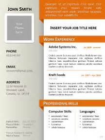 Resume 2 Pages Format by Clean Resume Cv Template For Powerpoint