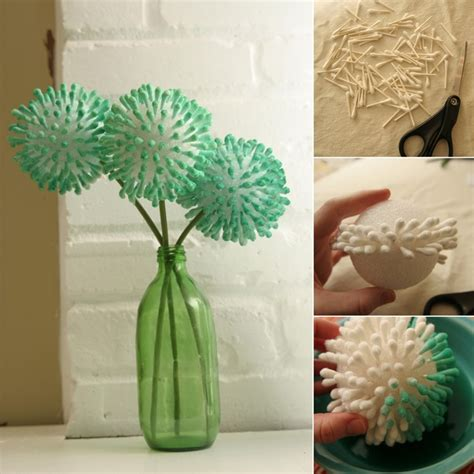 time to craft these stunning flowers with q tips