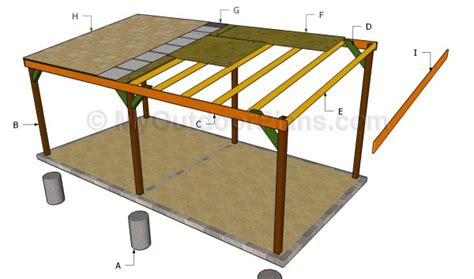 carport building plans free plans for building a carport furnitureplans