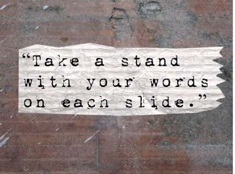Take A Stand Essay by Presentation Tips 15 Writing Tips For Slides That Rock