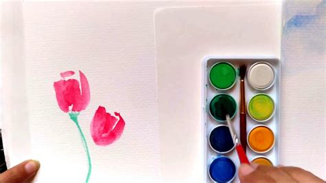 watercolor tubes tutorial easy tutorial how to paint tulips using watercolor for