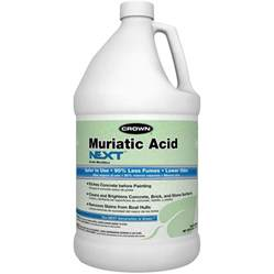 shop crown 1 gallon muriatic acid at lowes com