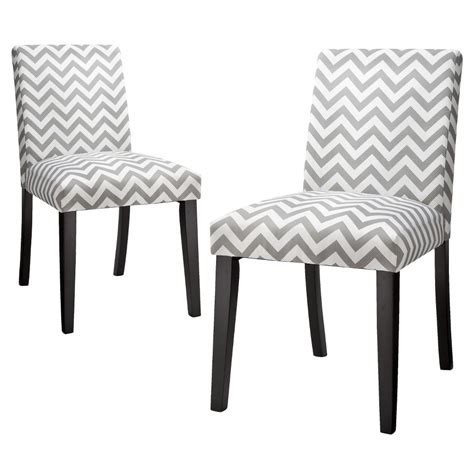 Chevron Dining Chair Skyline Dining Chair Uptown Dining Chair Gray White Chevron Set Of 2 Grey