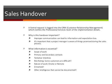 handover report sle ict project management