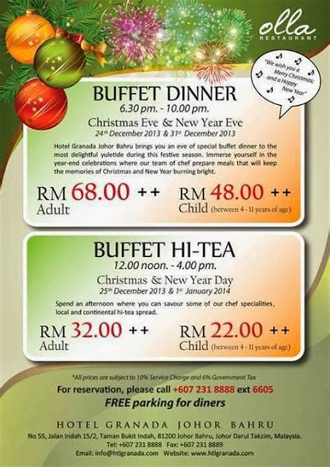 new year buffet johor bahru olla restaurant malaysian foodie