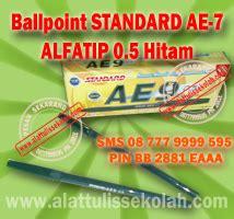 Standard Pen Ae7 Alfa Tip 0 5 ballpoint standard ae 7 alfatip hitam bolpen standard