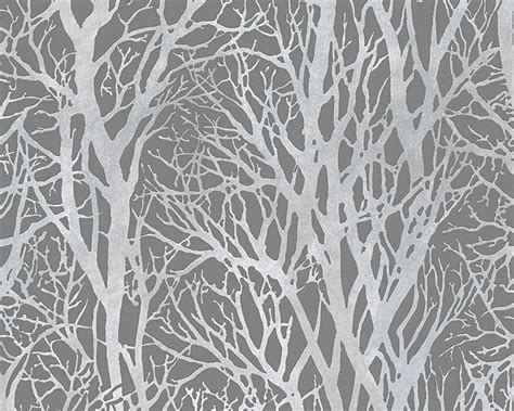 grey wallpaper with trees woodland grey wallsorts