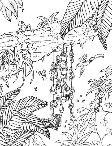 coloring book rainforest