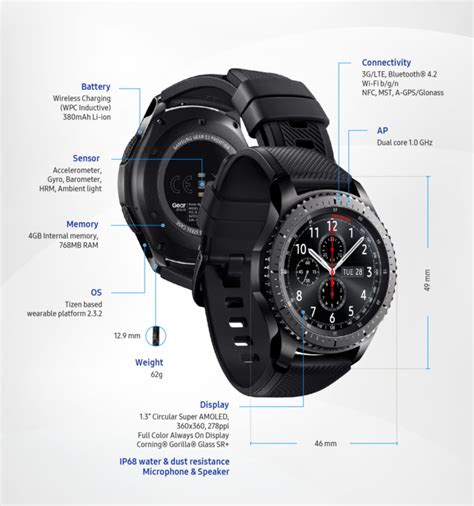 Smartwatch Gear S3 Frontier samsung unveils gear s3 classic and frontier smartwatches notebookcheck net news