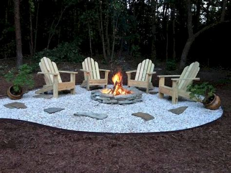diy pit ideas and backyard seating area 65
