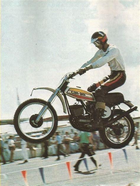 can am motocross bikes 1975 gary jones aboard a can am vintage dirt
