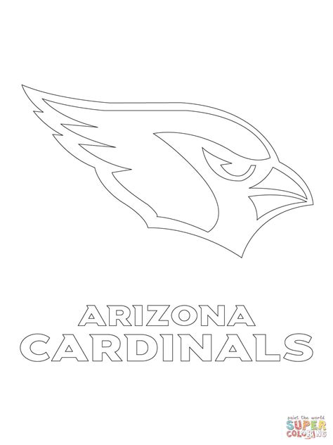 what color are cardinals arizona cardinals logo coloring page free printable