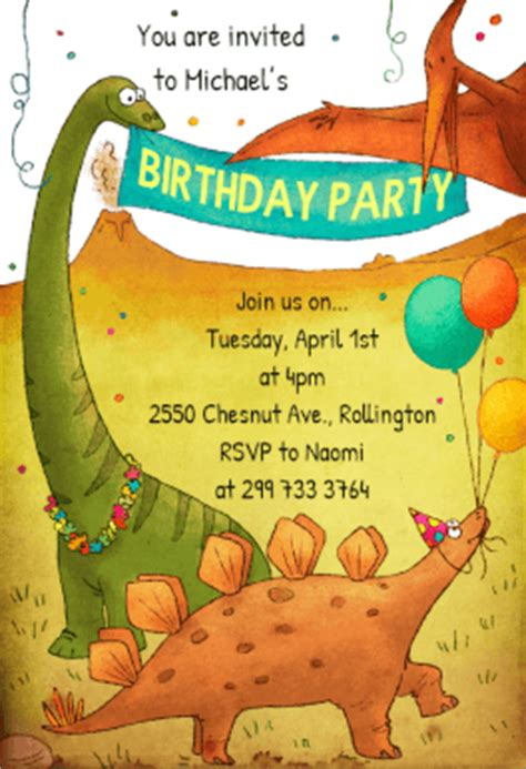 printable birthday invitations dinosaur dinosaurs birthday party free printable birthday