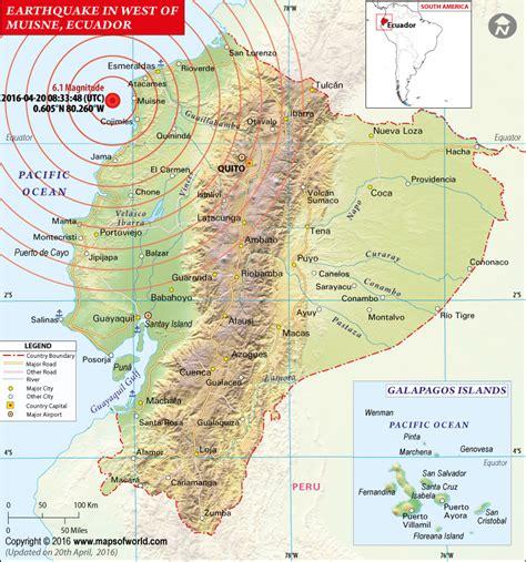 earthquake mp ecuador earthquake map areas affected by earthquake in