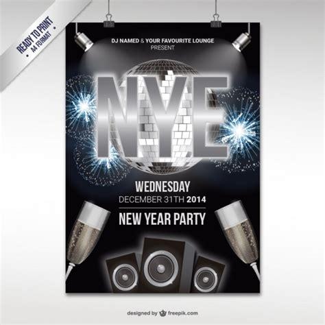 new year cmyk cmyk new year vooravond partij poster vector gratis