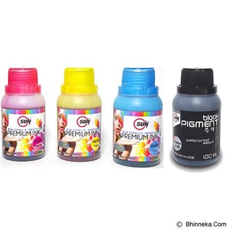 Tinta Printer Pigmen jual sun tinta hp premium ink nfi cmy black pigment 100 ml