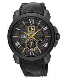 Seiko Premier Snp145p1 Kinetik Perpetual Black Jam Pria Snp145 watches price buy watches upto 87 at snapdeal