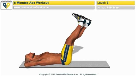 8 min abs workout level 3 p4p