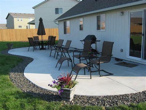 best 25 concrete backyard ideas on concrete