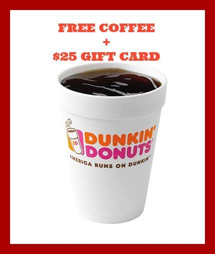 Free Dunkin Donuts Gift Card - 17 best images about dunkin donuts on pinterest donuts dunkin donuts coffee and