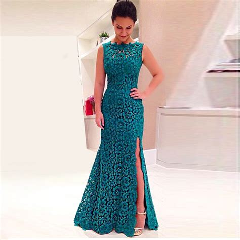 Maxi Tyara Renda Yr abendkleider lace gown teal for wedding dress prom banquet plus size custom made maxi